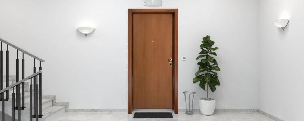 la porte dun appartement