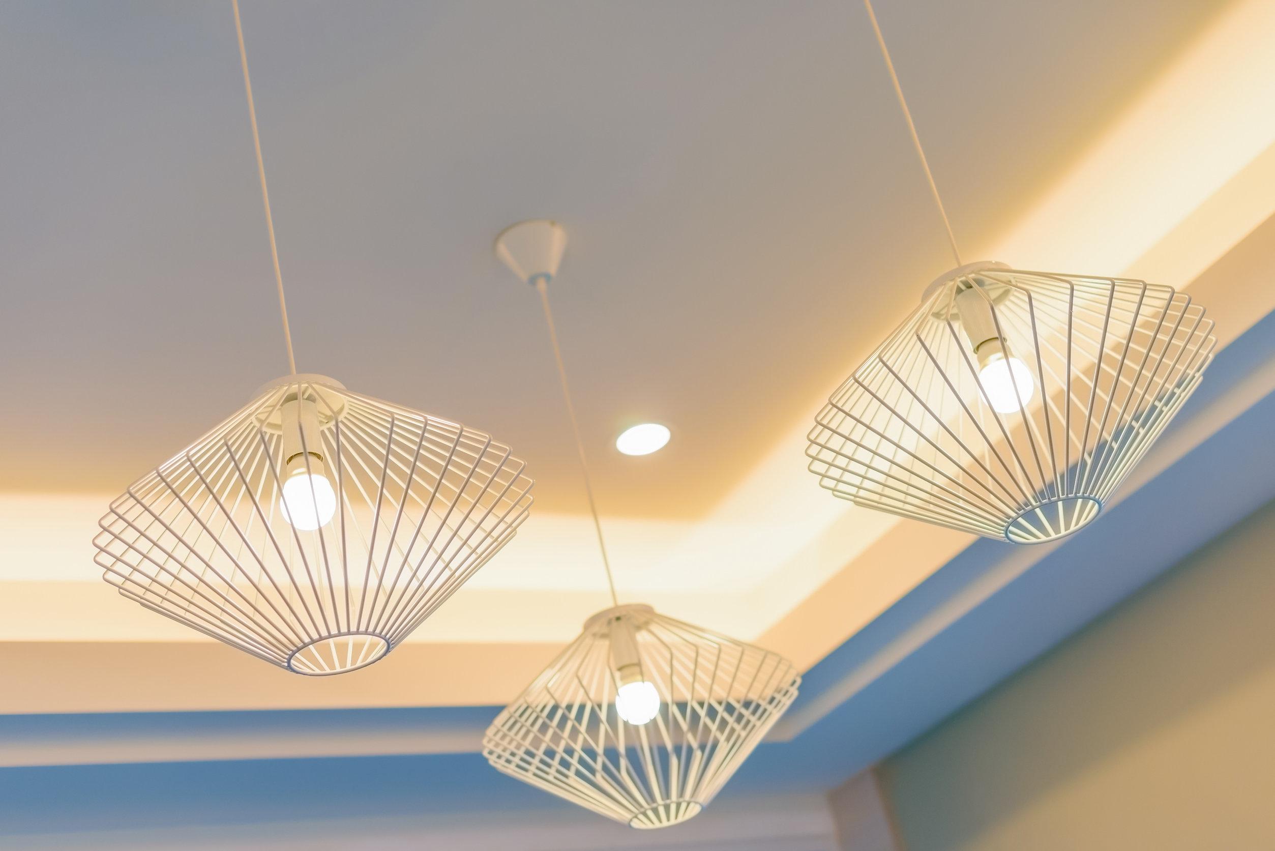 Beaux plafonniers à led design